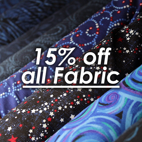 15% Off All Fabric