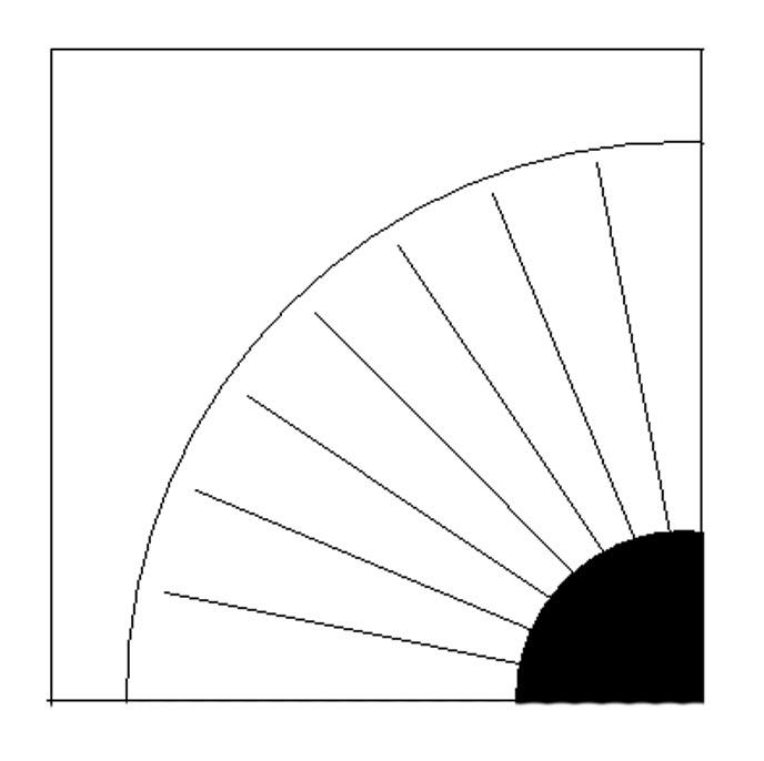 Paper pieced grandmother`s fan pattern