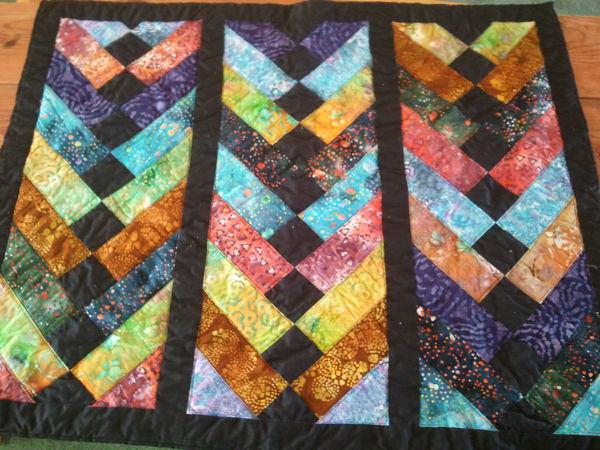 Batik French Braid Throw Quilt