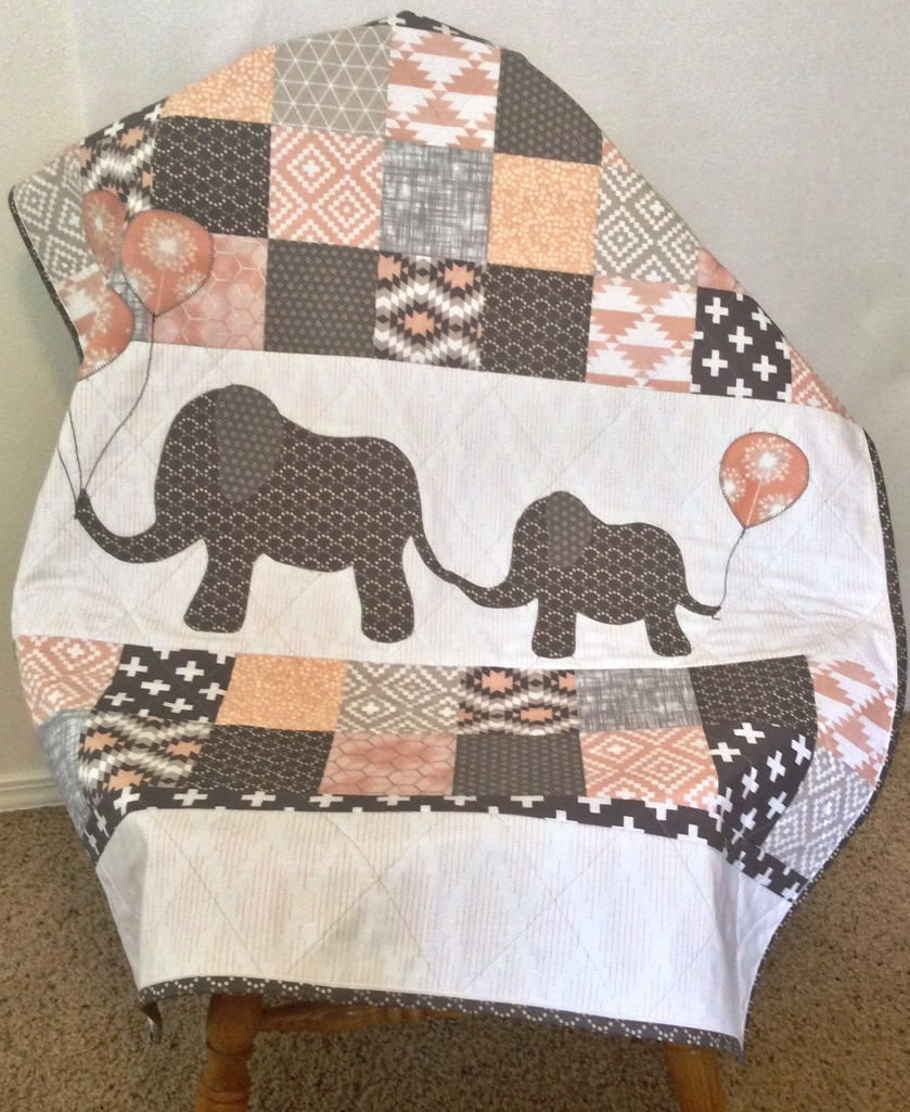Baby Elephant Quilt Pattern - DIY Quilt Pattern