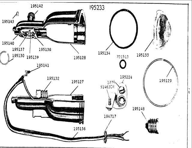 Where to buy? Lens & spring for spotlight lamp (Singer 99/185)