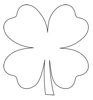 Shamrock Chain: FREE Four-Leaf Clover Applique Pattern