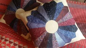 Dresden, patchwork, quilted, cushions, commission