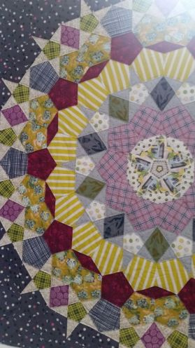 Delightful colour&pattern in this geometric quilt