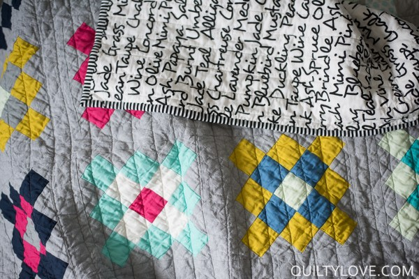 Solids Granny Square Quilt Essex Linen - Quilty Love