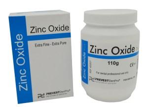 Polvo de óxido de Zinc, para uso cosmético y odontológico