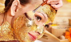 Mascarilla facial de oro