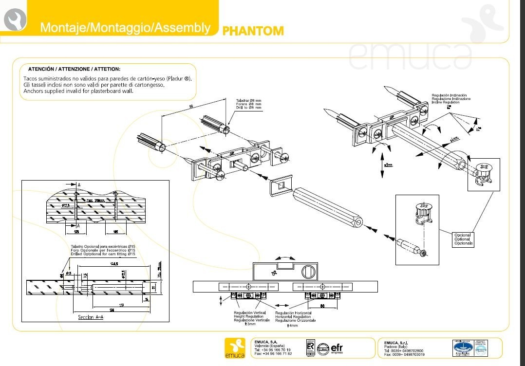 support invisible pour etagere phantom