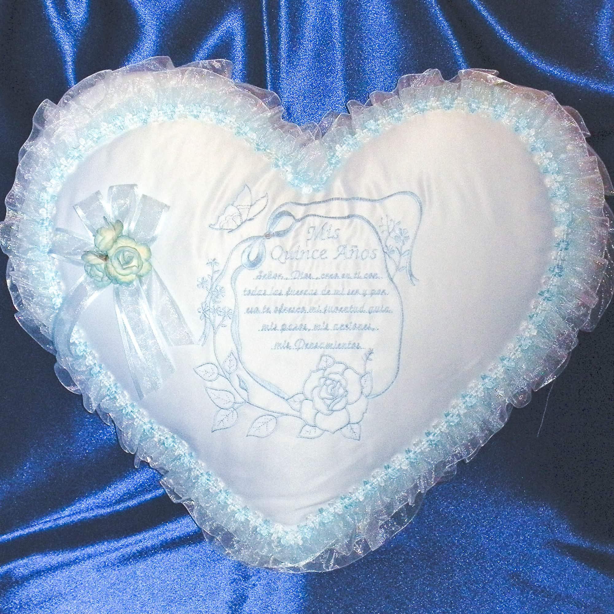 kneeling pillow with quinceanera prayer