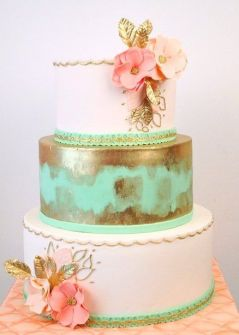 mint green pink cake1