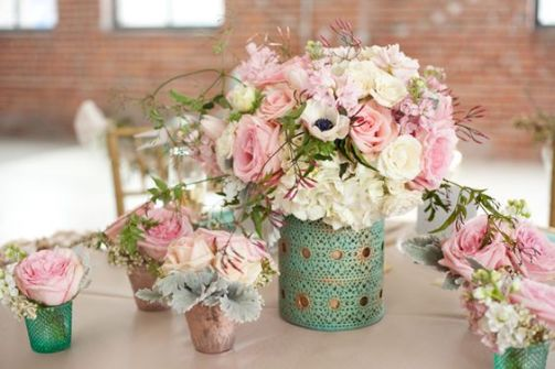 mint green pink decor