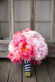 pink navy bouquet