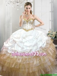 White And Gold Quince Dresses Pictures to Pin on Pinterest ...