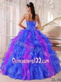 The Best Sequins Ruffled Quinceanera Dress in Blue and ...