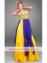 Loose Fitting Two Toned Prom Dress by Landa Cire PC199- US ...