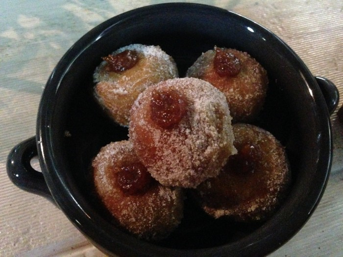 donuts with quince paste