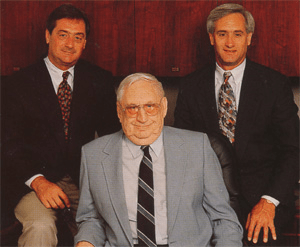 Family-Owned Sheet Metal Company, showing founders David, Carl, and Daniel Nuessen