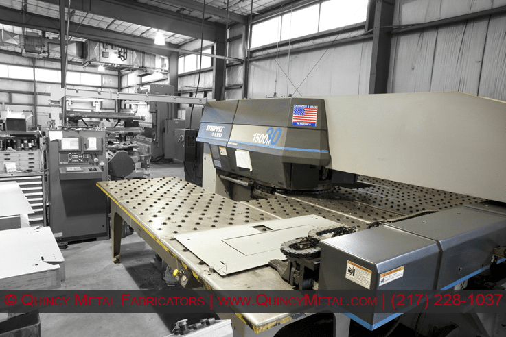 One of Quincy Metal Fabricators' 4 punch presses, a Strippit 1500 H30