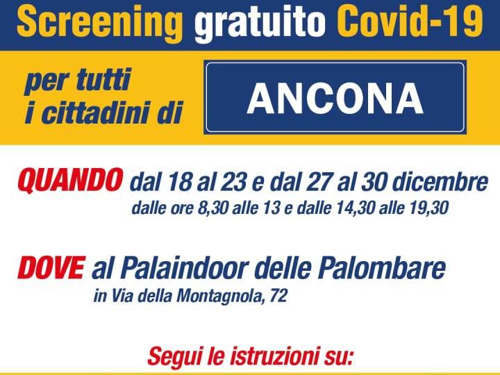 ANCONA SCREENING GRATUITO CORONAVIRUS