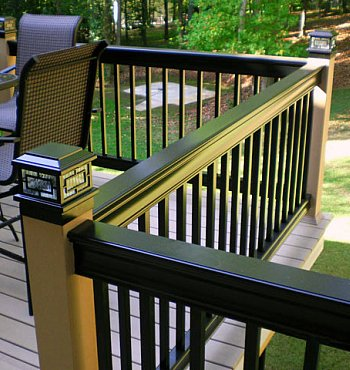 Composite black railings