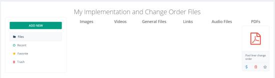 quinju.com - Project Information - Change Order
