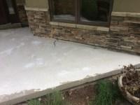 Stone over concrete porch: Welcome Home - quinju.com