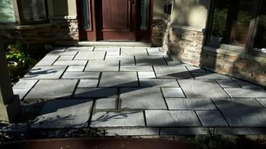 front porch project -natural stone install-quinu.com