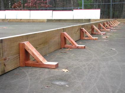 Backyard skating rinks - boards and bracing - quinju.com