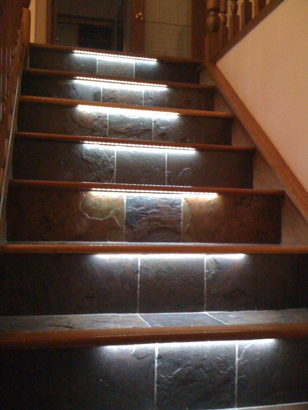Stair Lighting - Interior Stair Renovation - Quinju.com