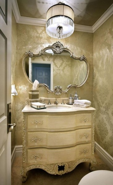 powder room makeover-lighting-quinju.com