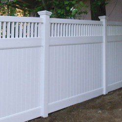 Fence / white vinyl / privacy / security / quinju.com