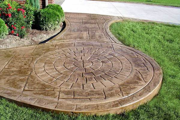 Curved Stamped Concrete Patio
