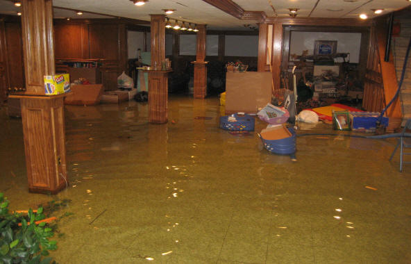 Home Insurance - flooded basement - quinju.com