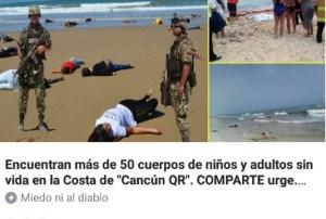 Noticia falsa de Cancún convulsiona a las redes sociales en todo el mundo