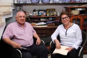 Laura Beristain Navarrete se reune con Rafael Marín Mollinedo