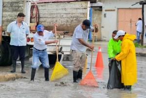 Activa gobierno de @LFpuertomorelos cuadrillas de trabajadores ante fuertes lluvias
