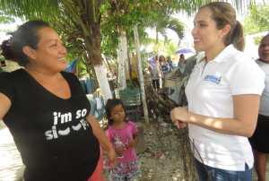 Un voto de confianza pidió Atenea Gómez Ricalde en la ZC de Isla Mujeres