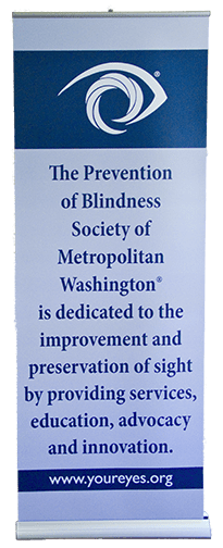 Prevention of Blindness Society banner stand