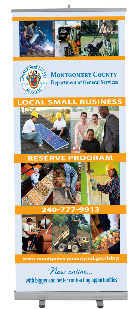 Montgomery County local small business reserve program banner stand