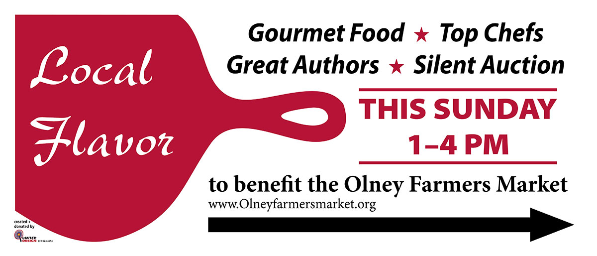 Banner for event for the Olney Farmer's Market
