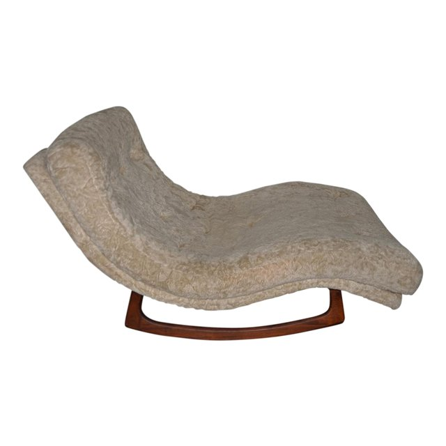 adrian pearsall rocking chair wing recliner wave rocker mid 20th century quintessential things
