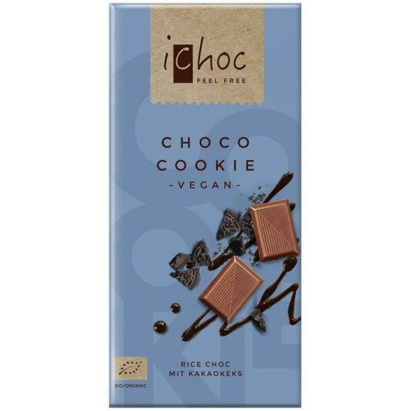 Chocolate vegano con galleta crujiente iChoc