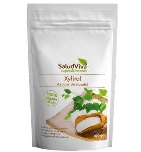 Xylitol azúcar de abedul Salud Viva 200 gramos.