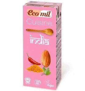 Nata de almendras India Ecomil. 200 ml