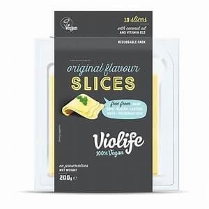Queso vegano en lonchas Violife original 200 gramos.