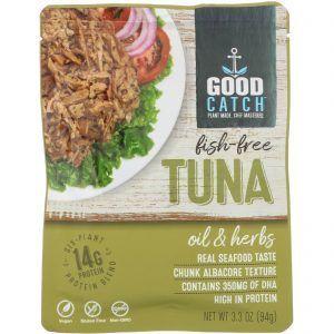 Atún vegano Good Catch finas hierbas Para hacer sandwiches veganos de verdad. Con atún, pero veganos. ¡Viva el pescado sin pescado!