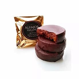 Alfajor de crema de chocolate y avellanas