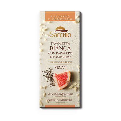 Sarchio chocolate blanco de pomelo.