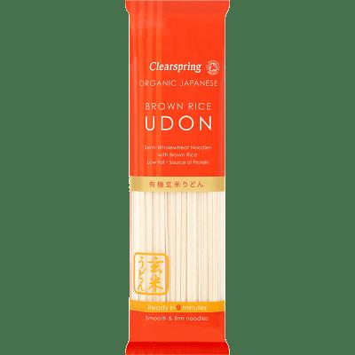 Udon de trigo y arroz integral Clearspring