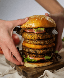 hamburguesa grin grin lentejas